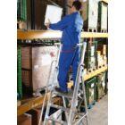 Krause - Stabilo lépcsőfokos állólétra nagy dobogóval és kapaszkodókerettel 6 fokos (profi) - 127501
