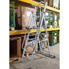 Krause - Stabilo lépcsőfokos állólétra nagy dobogóval és kapaszkodókerettel 4 fokos (profi) - 127488