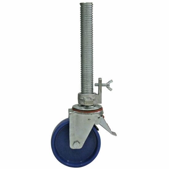 Krause - Stabilo, ProTec és ClimTec gurulóállványokhoz kerék Ø 150 mm, állítható magasságú (1 db) - 914101