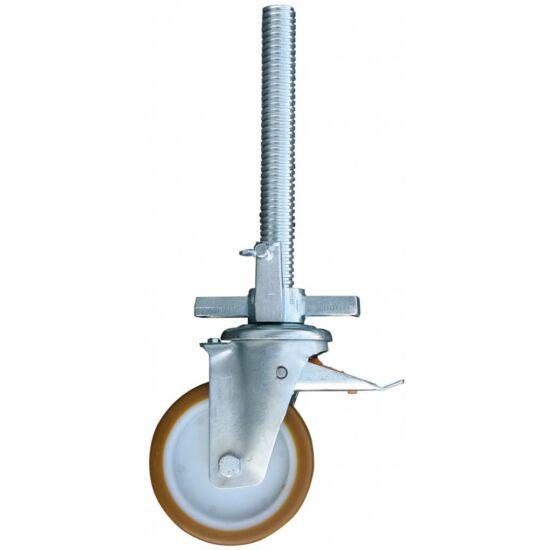 Krause - Stabilo, ProTec és ClimTec gurulóállványokhoz gumírozott kerék Ø 150 mm, állítható magasságú (1 db) - 714138