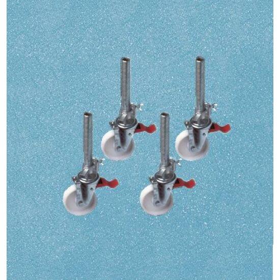 Zarges - Kerék orsóval 150mm Z200 és Z300 Gurulóállványhoz, állítható magasságú - 44444