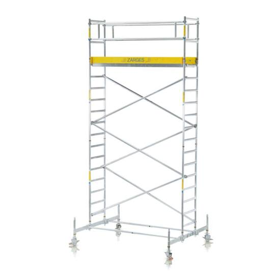 Zarges - Z600 Gurulóállvány futóművel alapváltozat 4,5m (1,80x0,6m) - 51024