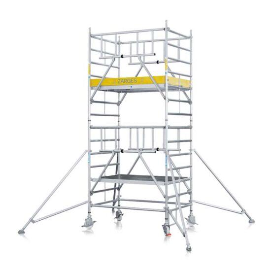 Zarges - Z600 S-PLUS Gurulóállvány kitámasztókkal széles változat 10,4m (2,5x1,2m) - 52496