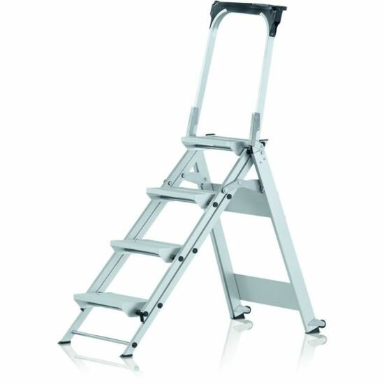 Zarges - Plazastep P Összecsukható biztonsági lépcső kapaszkodóval 5 fokos - 41495