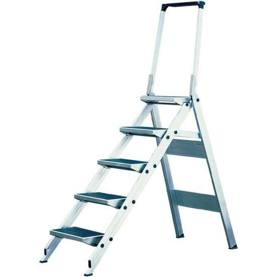 Krause - Összecsukható lépcső lehajtható kapaszkodókerettel 5 fokos - 810274