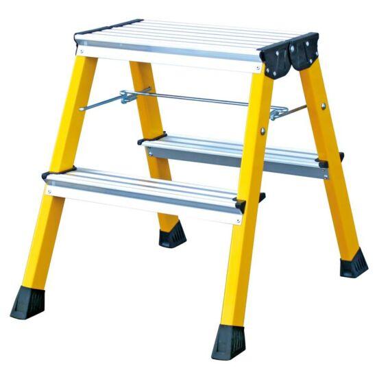 Krause - Monto Rolly két oldalon járható összecsukható, gurítható fellépő 2x2 fokos sárga (félprofi) - 130044