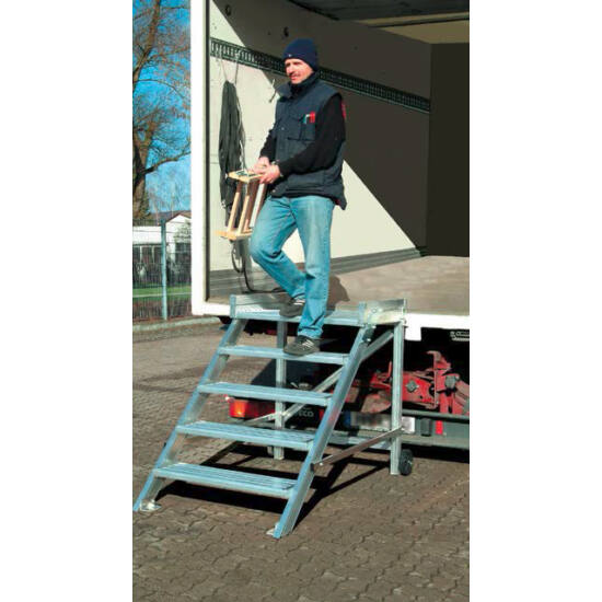 Krause - Gurítható lépcső dobogóval (könnyűfém), 600 mm munkamagasság 3,0 m - 810366