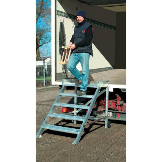 Krause - Gurítható lépcső dobogóval (könnyűfém), 600 mm munkamagasság 2,8 m - 810359