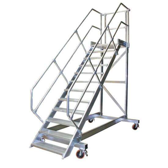 Krause - Könnyűfém gurítható lépcső dobogóval 600mm 45° 4 fokos - 827838