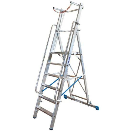 Krause - Stabilo lépcsőfokos állólétra nagy dobogóval és kapaszkodókerettel 10 fokos (profi) - 127549