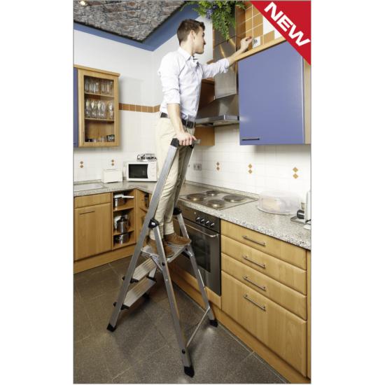 Krause - Monto Safety Plus lépcsőfokos állólétra 3 fokos (félprofi) - 127914