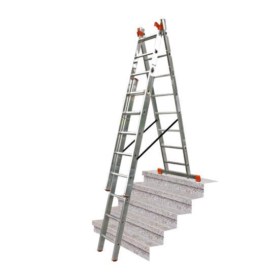Krause - Monto Tribilo létrafokos sokcélú létra 3x8 fokos lépcsőfunkcióval   (félprofi) - 129741