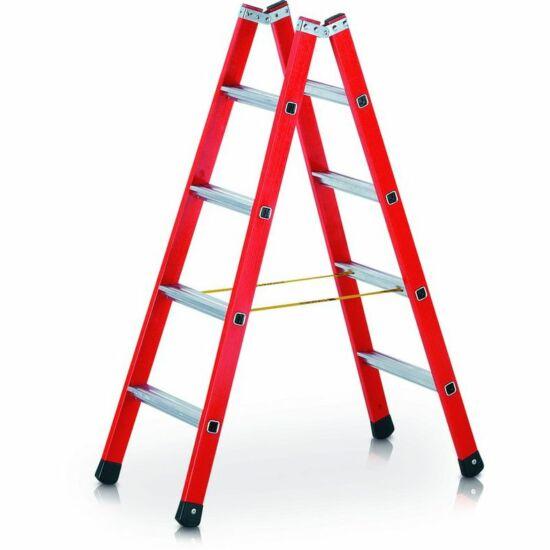 Zarges - EFAmix B Két oldalon járható lépcsős üvegszál-alumínium szerkezetű állólétra 2x10 fokos - 41169